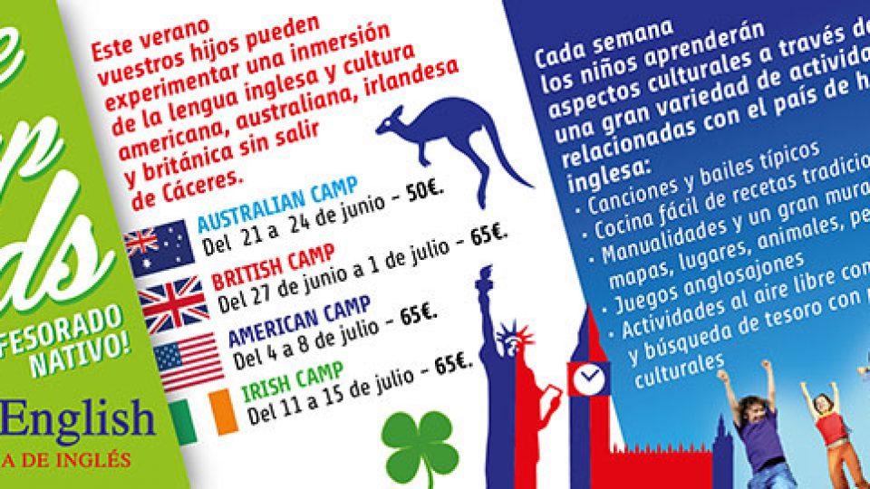 Campamento urbano de Inglés en Cáceres para niños, Culture Camps Kids infantil en Cáceres