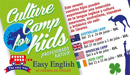 Campamento de Verano en Cáceres para niños Culture Camp 2016