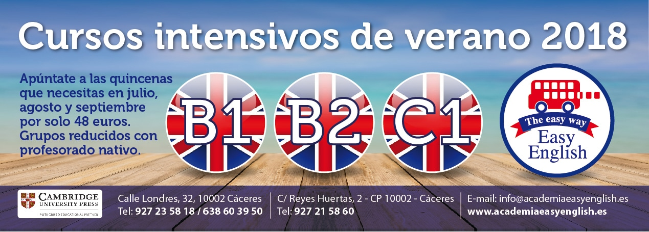 Cursos intensivos de Cambridge English en Verano Cáceres