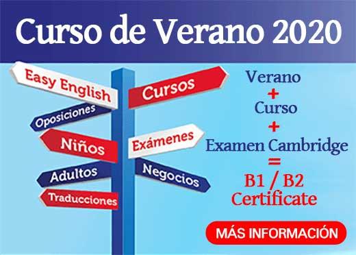 Curso de Verano de Inglés en Cáceres, B1 - B2 Cambridge
